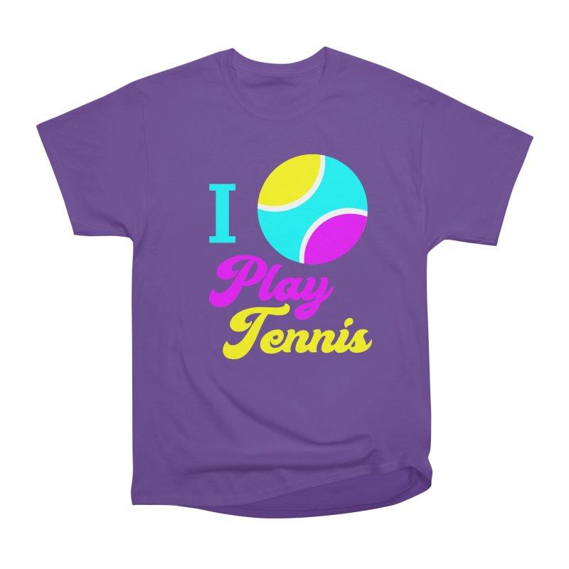 I play tennis Men's Heavyweight T-Shirt by DERG's Artist Shop