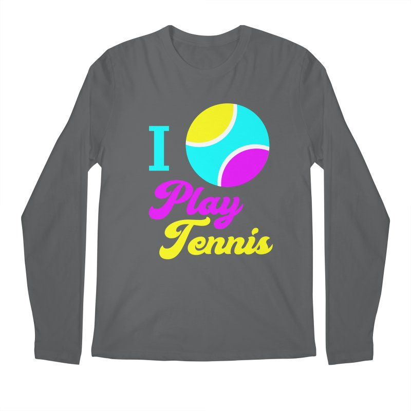 I play tennis Men's Regular Longsleeve T-Shirt by DERG's Artist Shop