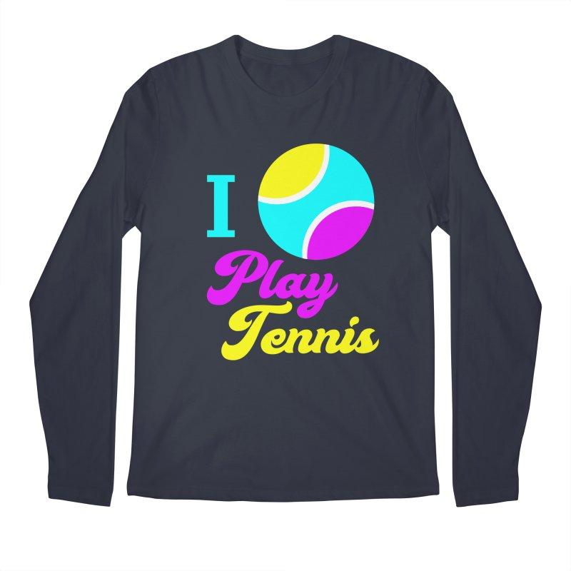 I play tennis Men's Longsleeve T-Shirt by DERG's Artist Shop