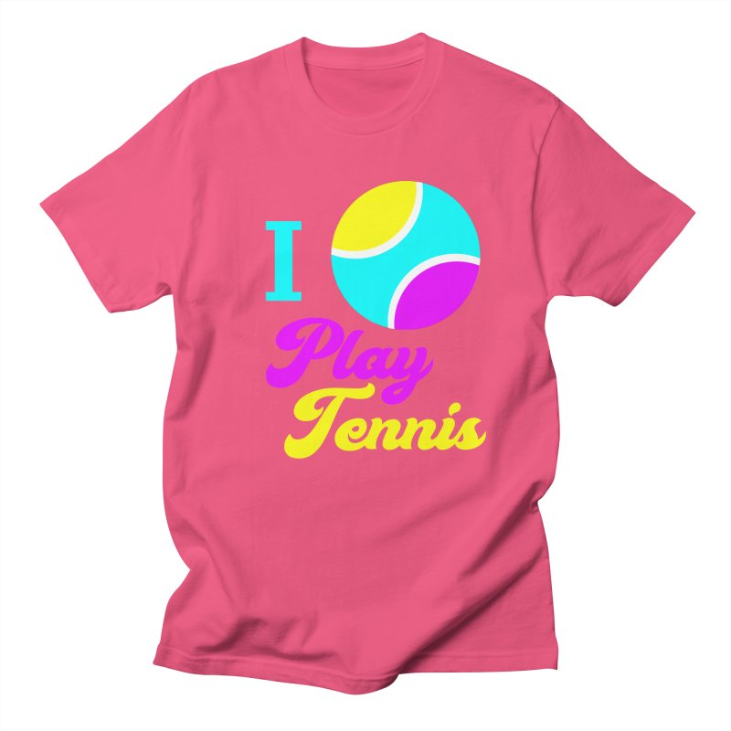 I play tennis Men's T-Shirt by DERG's Artist Shop