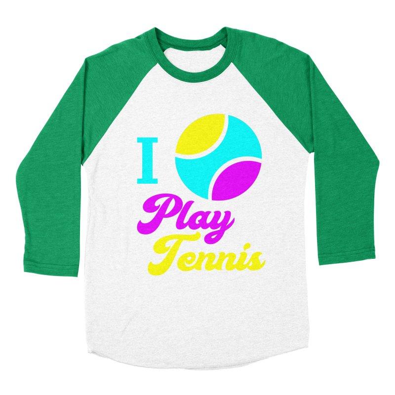 I play tennis Men's Baseball Triblend T-Shirt by DERG's Artist Shop
