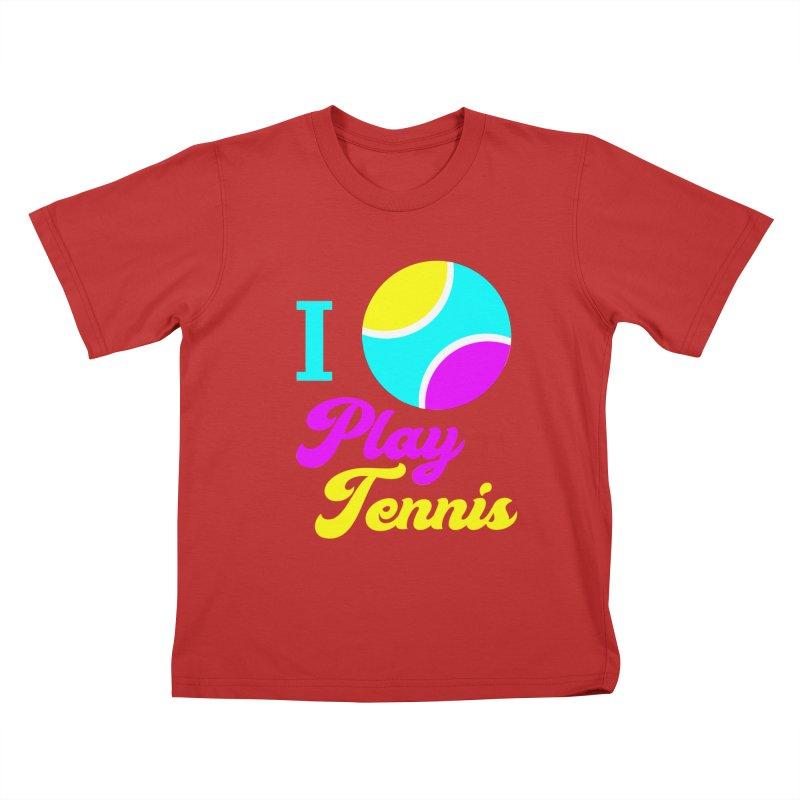 I play tennis Kids T-Shirt by DERG's Artist Shop