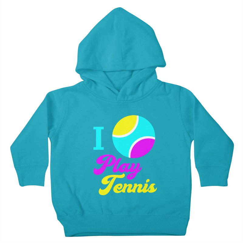 I play tennis Kids Toddler Pullover Hoody by DERG's Artist Shop