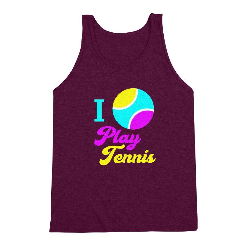I play tennis Men's Triblend Tank by DERG's Artist Shop