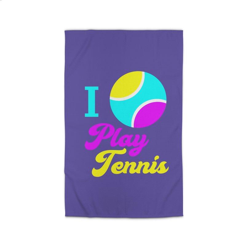 I play tennis Home Rug by DERG's Artist Shop