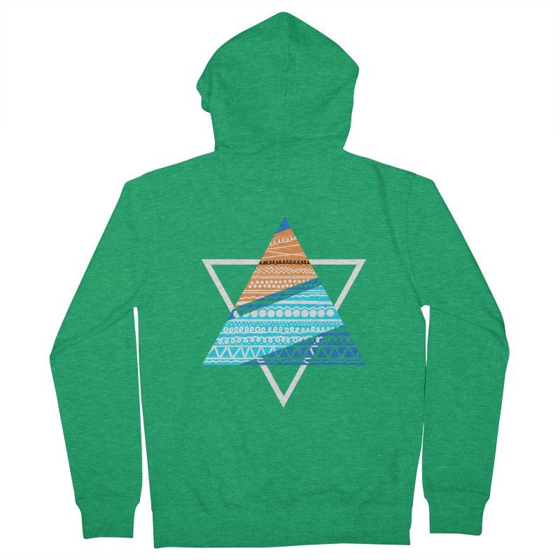 Pyramid2 Men's Zip-Up Hoody by DERG's Artist Shop