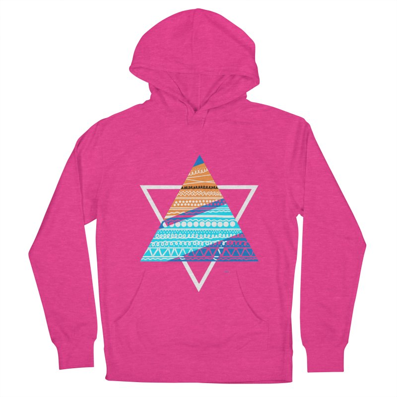 Pyramid2 Women's French Terry Pullover Hoody by DERG's Artist Shop
