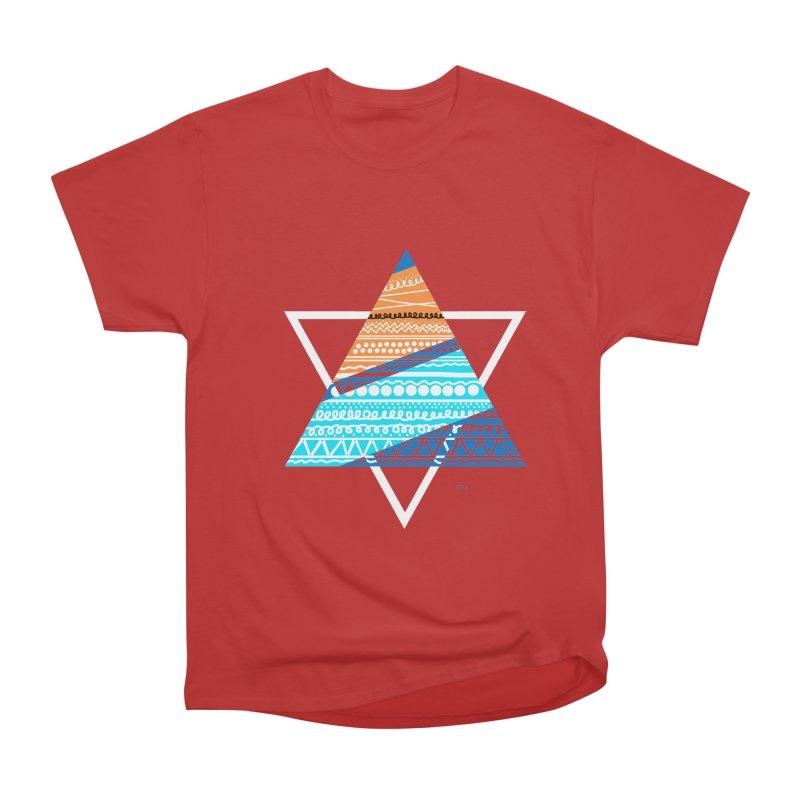 Pyramid2 Men's Heavyweight T-Shirt by DERG's Artist Shop