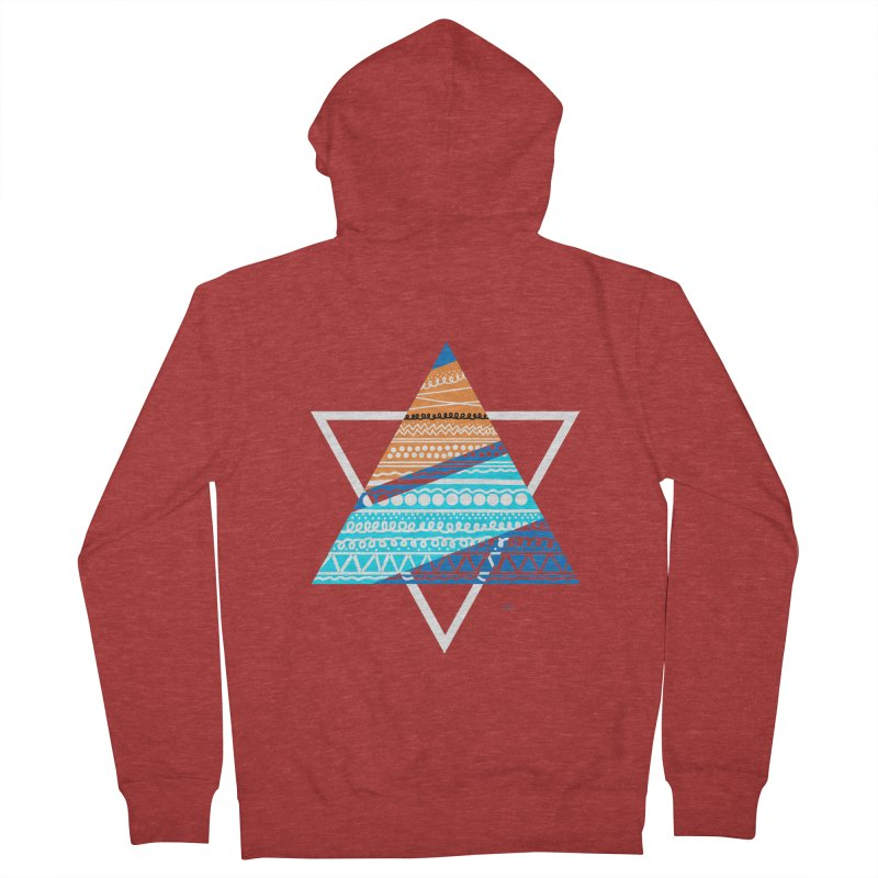 Pyramid2 Men's Zip-Up Hoody by DERG's Artist Shop
