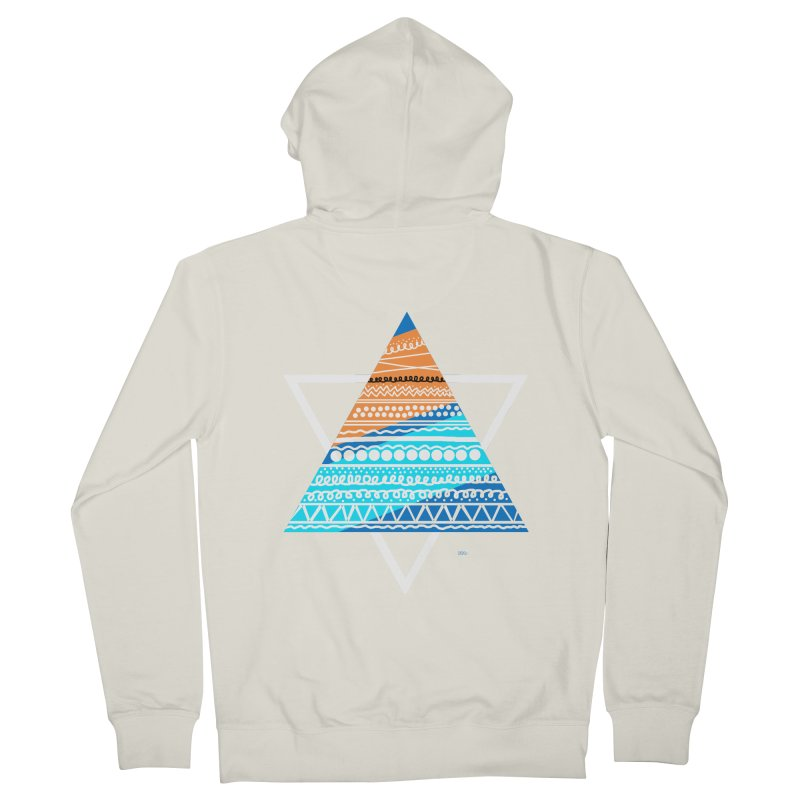 Pyramid2 Men's French Terry Zip-Up Hoody by DERG's Artist Shop