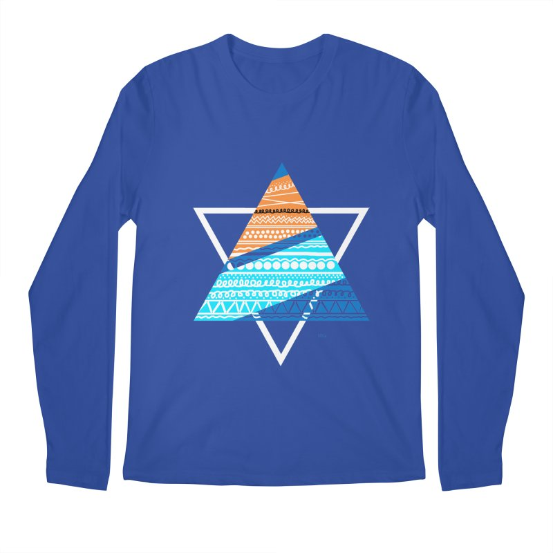 Pyramid2 Men's Regular Longsleeve T-Shirt by DERG's Artist Shop