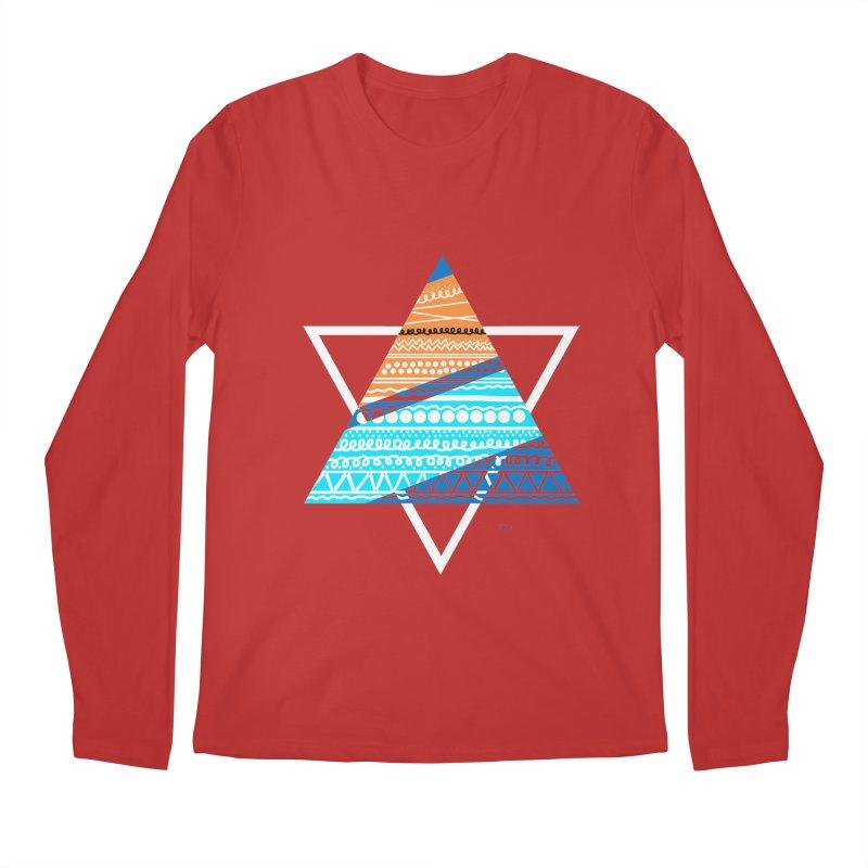 Pyramid2 Men's Regular Longsleeve T-Shirt by DERG's Artist Shop