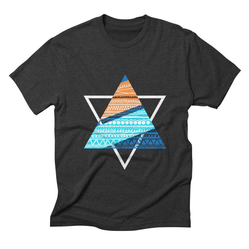 Pyramid2 Men's Triblend T-shirt by DERG's Artist Shop