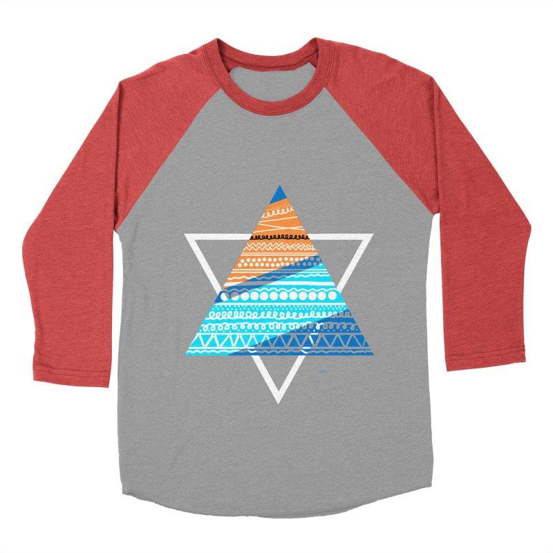 Pyramid2 Women's Baseball Triblend Longsleeve T-Shirt by DERG's Artist Shop