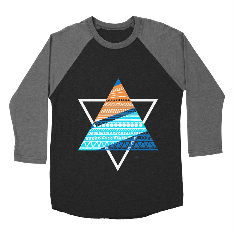 Pyramid2 Women's Baseball Triblend T-Shirt by DERG's Artist Shop