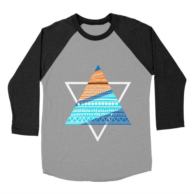 Pyramid2 Women's Baseball Triblend T-Shirt by DERG's Artist Shop