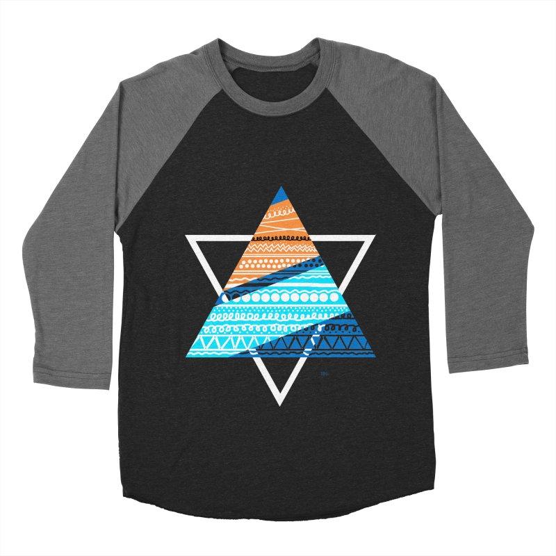 Pyramid2 Men's Baseball Triblend T-Shirt by DERG's Artist Shop