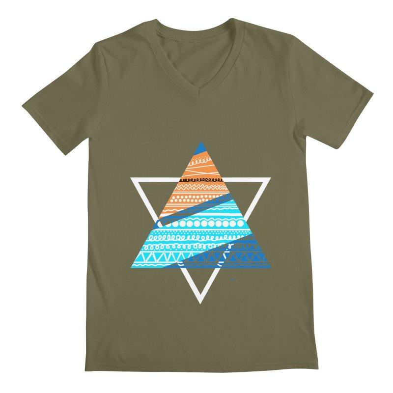 Pyramid2 Men's V-Neck by DERG's Artist Shop