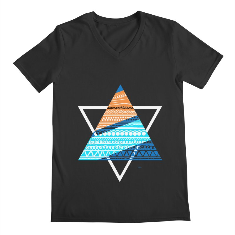 Pyramid2 Men's V-Neck by DERG's Artist Shop