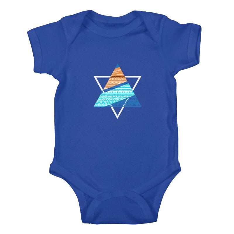 Pyramid2 Kids Baby Bodysuit by DERG's Artist Shop