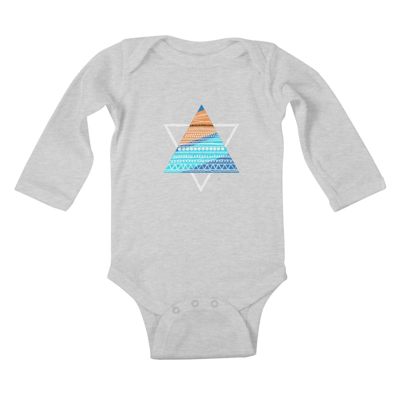 Pyramid2 Kids Baby Longsleeve Bodysuit by DERG's Artist Shop