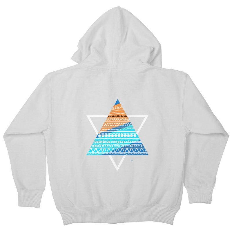 Pyramid2 Kids Zip-Up Hoody by DERG's Artist Shop
