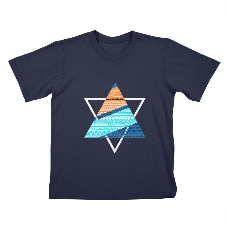 Pyramid2 Kids T-Shirt by DERG's Artist Shop