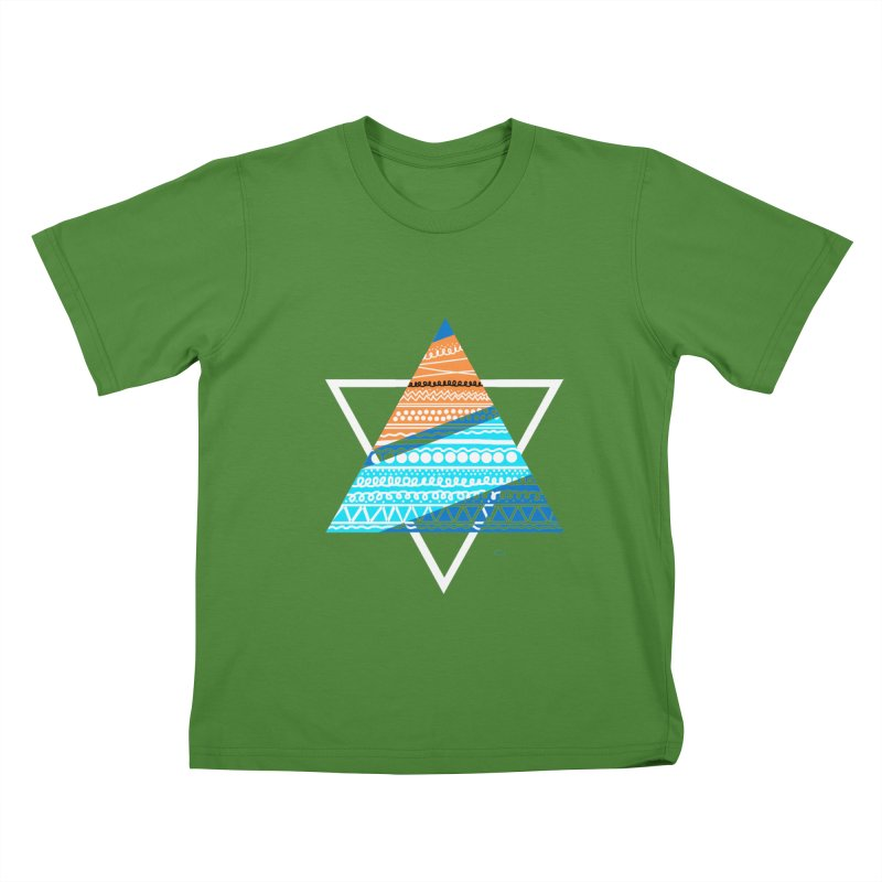 Pyramid2 Kids T-Shirt by DERG's Artist Shop