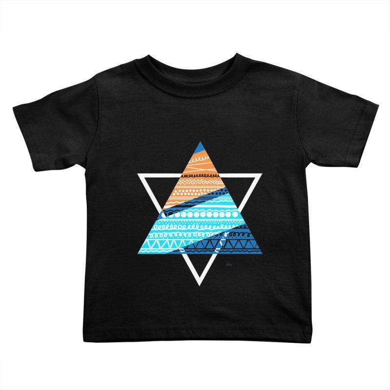 Pyramid2 Kids Toddler T-Shirt by DERG's Artist Shop