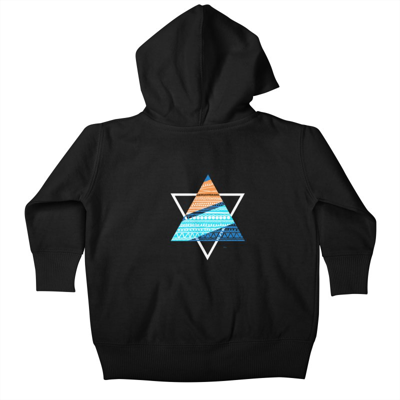 Pyramid2 Kids Baby Zip-Up Hoody by DERG's Artist Shop