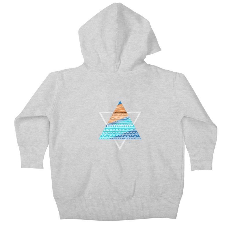 Pyramid2 Kids Baby Zip-Up Hoody by DERG's Artist Shop
