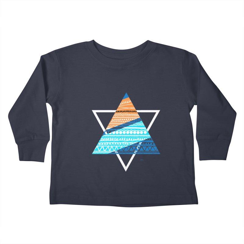 Pyramid2 Kids Toddler Longsleeve T-Shirt by DERG's Artist Shop
