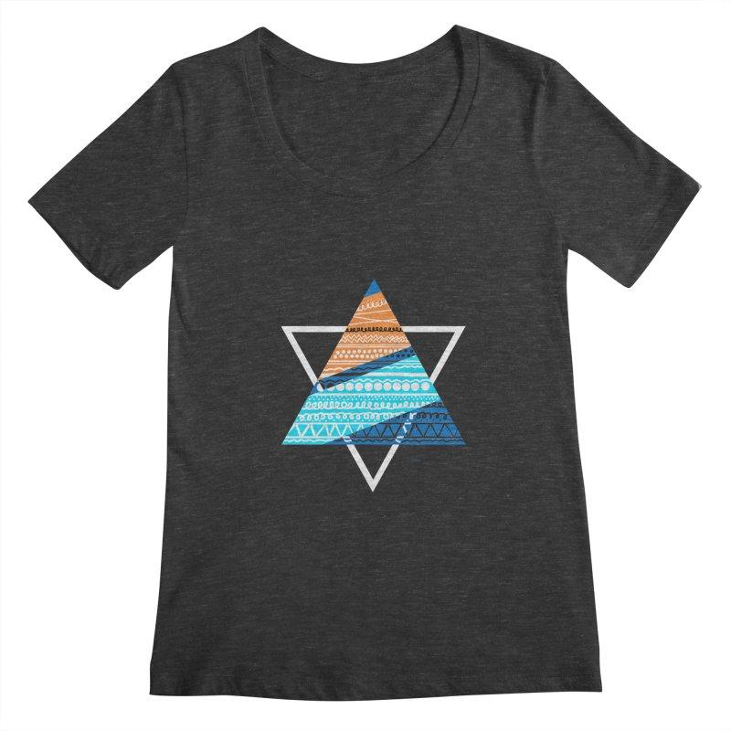 Pyramid2 Women's Scoopneck by DERG's Artist Shop