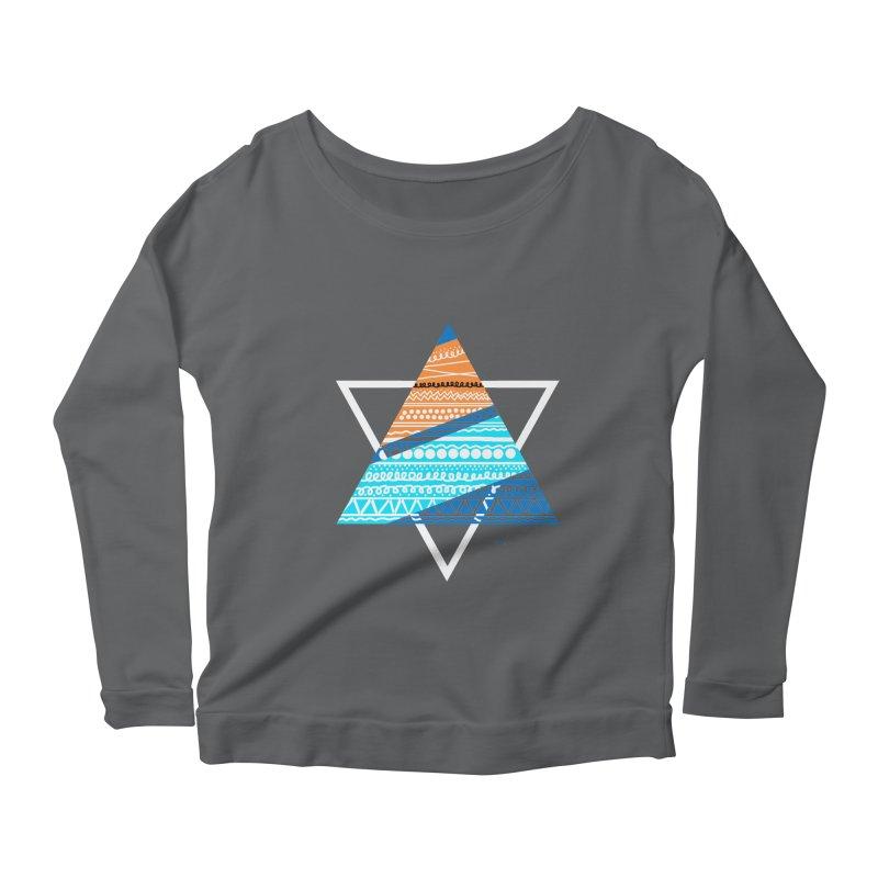 Pyramid2 Women's Longsleeve Scoopneck  by DERG's Artist Shop
