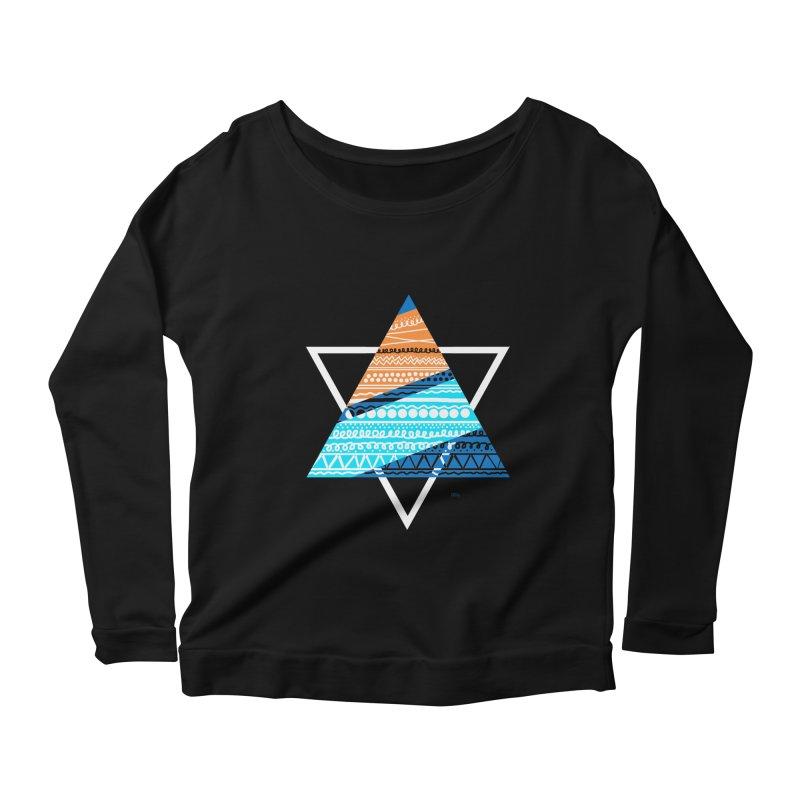 Pyramid2 Women's Scoop Neck Longsleeve T-Shirt by DERG's Artist Shop