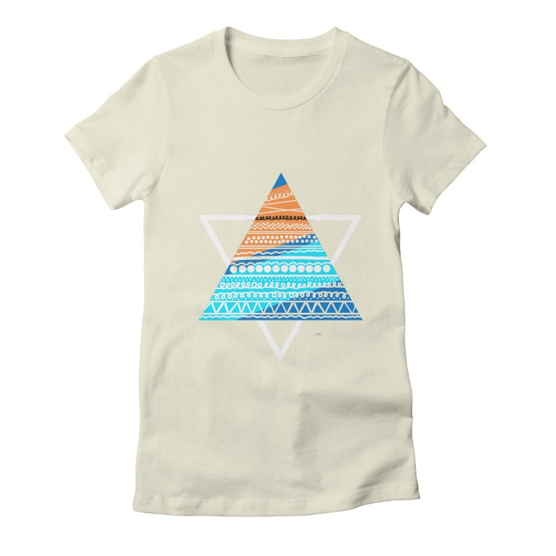 Pyramid2 Women's Fitted T-Shirt by DERG's Artist Shop