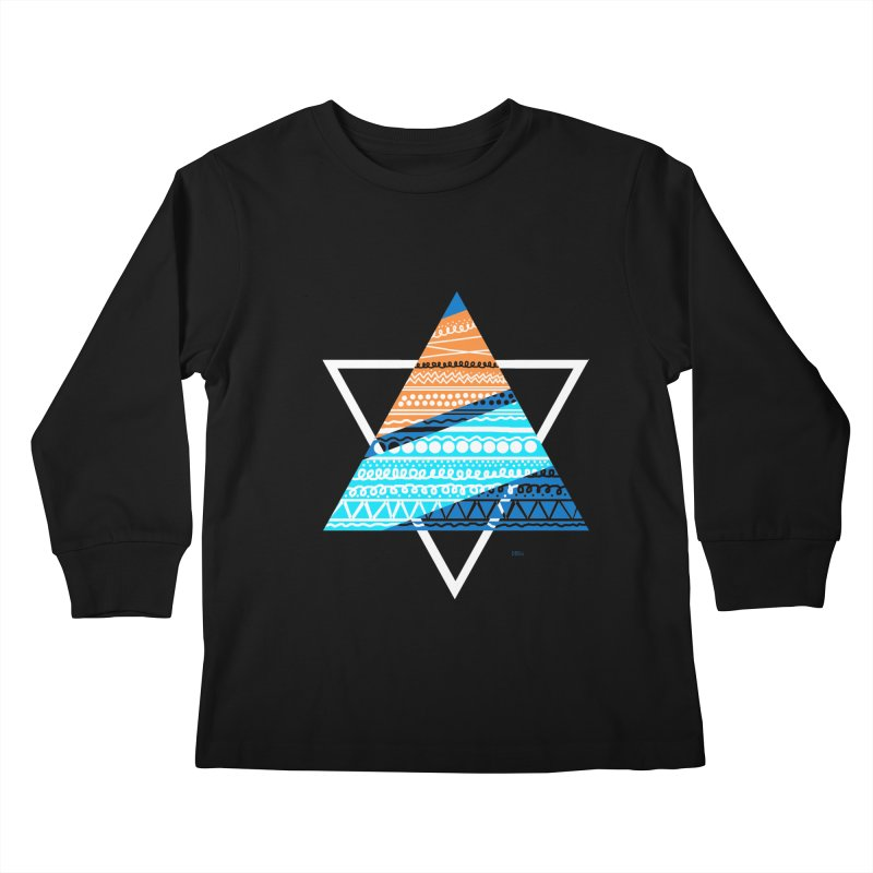 Pyramid2 Kids Longsleeve T-Shirt by DERG's Artist Shop