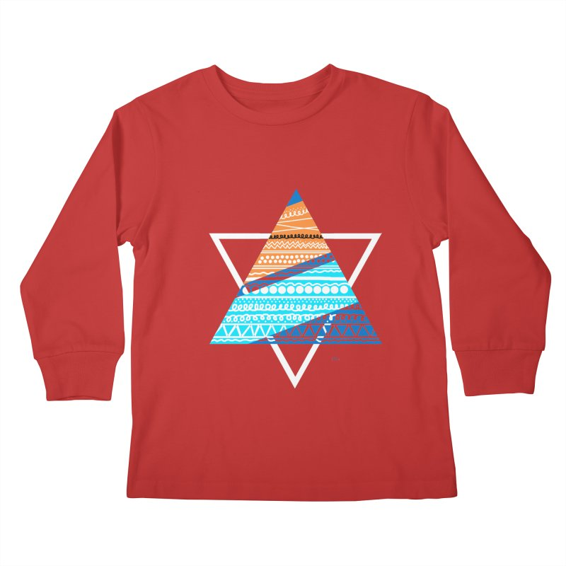 Pyramid2 Kids Longsleeve T-Shirt by DERG's Artist Shop