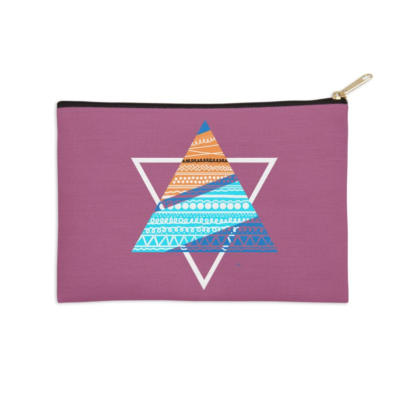 Pyramid2 Accessories Zip Pouch by DERG's Artist Shop