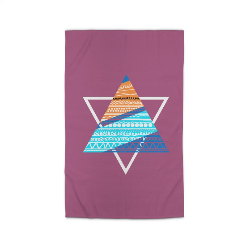 Pyramid2 Home Rug by DERG's Artist Shop