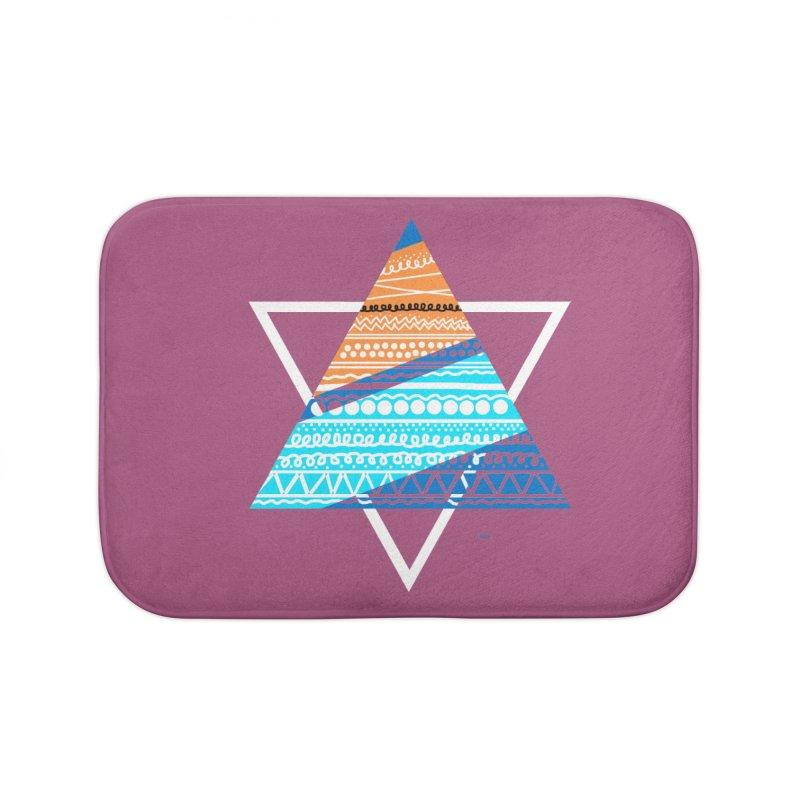 Pyramid2 Home Bath Mat by DERG's Artist Shop