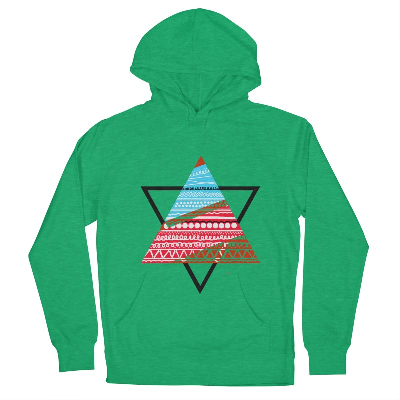 Pyramid3 Women's French Terry Pullover Hoody by DERG's Artist Shop