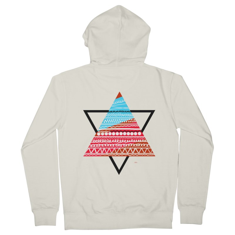 Pyramid3 Women's Zip-Up Hoody by DERG's Artist Shop