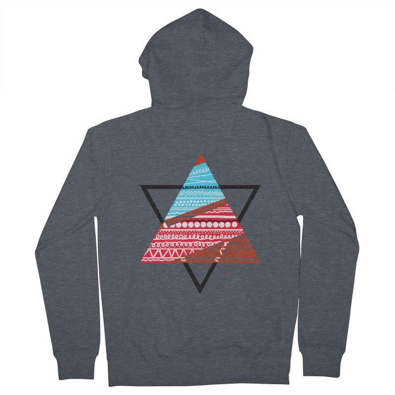 Pyramid3 Men's Zip-Up Hoody by DERG's Artist Shop