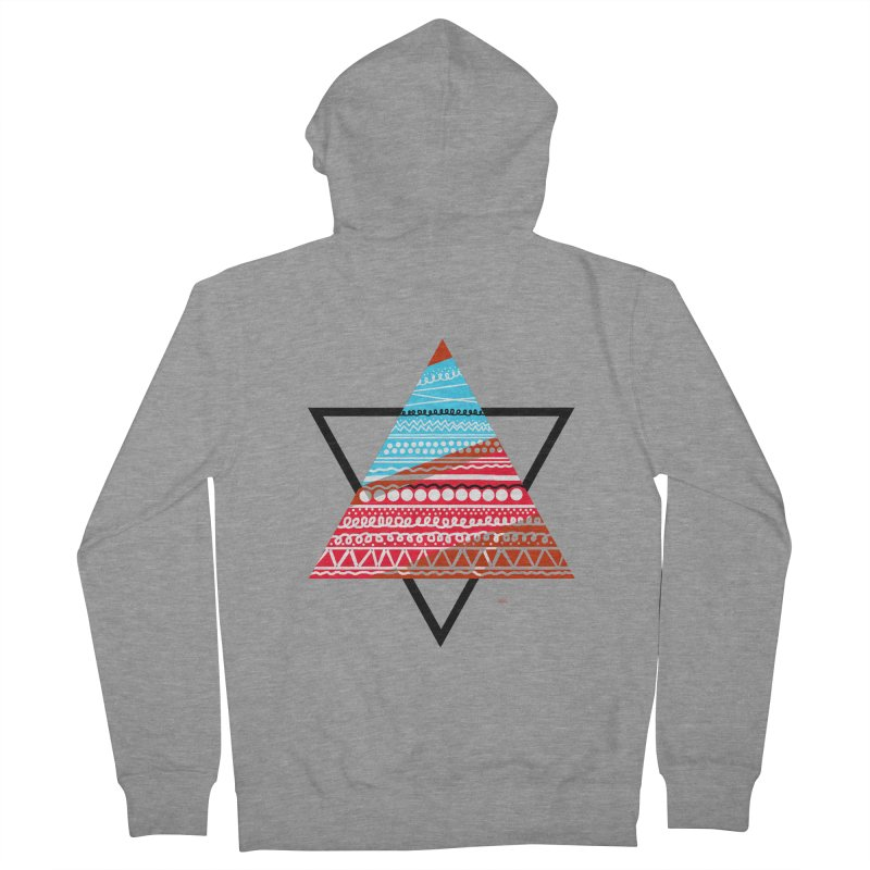 Pyramid3 Men's French Terry Zip-Up Hoody by DERG's Artist Shop