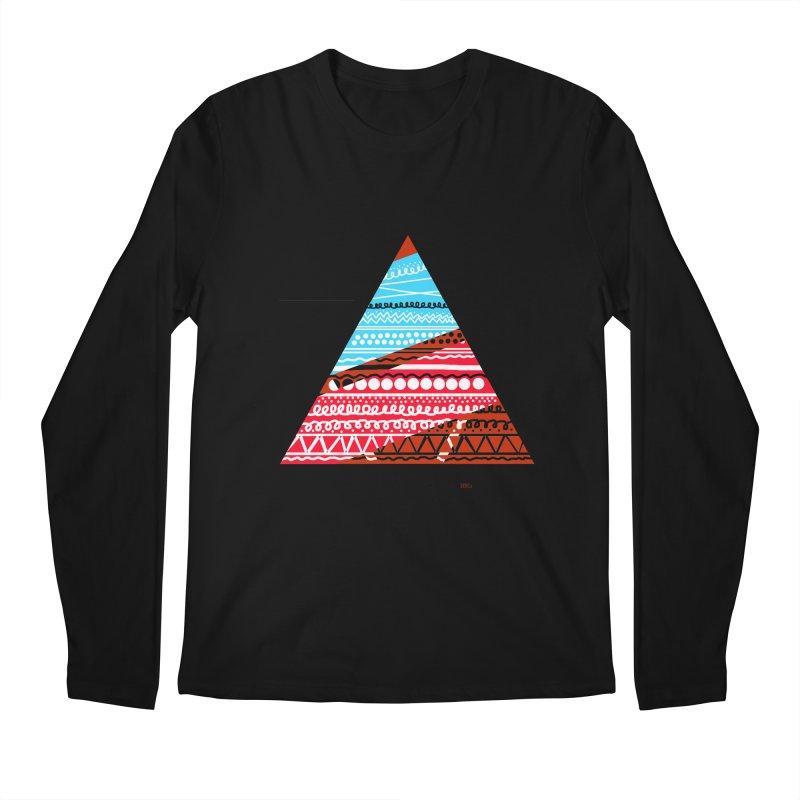 Pyramid3 Men's Regular Longsleeve T-Shirt by DERG's Artist Shop