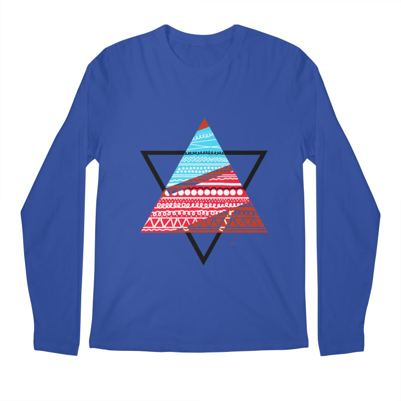 Pyramid3 Men's Regular Longsleeve T-Shirt by DERG's Artist Shop