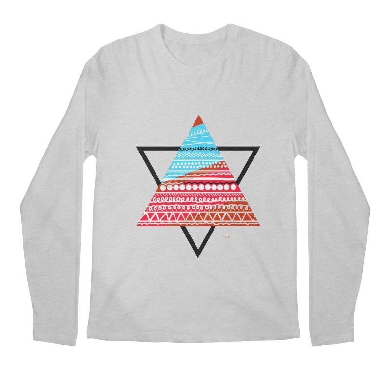 Pyramid3 Men's Longsleeve T-Shirt by DERG's Artist Shop