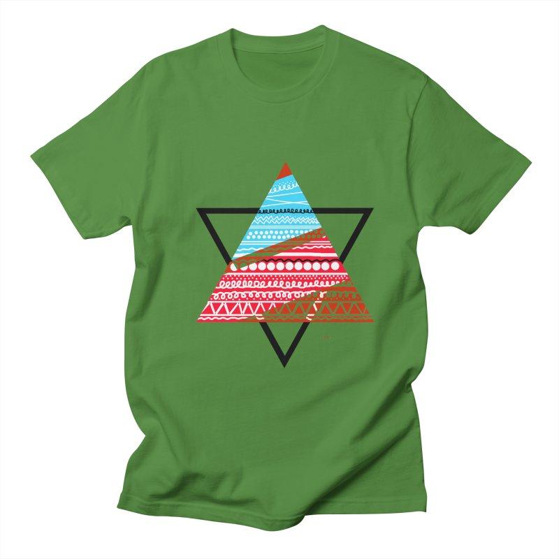 Pyramid3 Men's T-shirt by DERG's Artist Shop