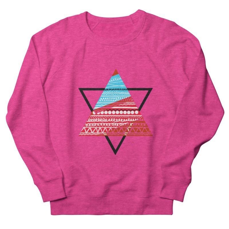 Pyramid3 Men's French Terry Sweatshirt by DERG's Artist Shop